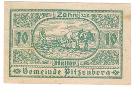Österreich Austria Notgeld 10 HELLER FS753 PITZENBERG /131M/ - Autriche