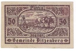 Österreich Austria Notgeld 50 HELLER FS753 PITZENBERG /131M/ - Autriche