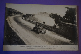 CPA PHOTO VOITURE RALLYE COURSE LANCIA Sur FIAT COUPE GORDON BENNETT 1905 - Sport Automobile