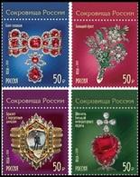 RUSSIA 2020 Stamp MNH VF ** Mi 2818-21 Treasures Gokhran Jewelry Minerals DIAMOND DIAMONDS MUSEUM MUSEE ART 2595-98 - 1992-.... Federazione