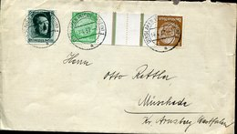 51199 Germany Reich, Circuled Cover 1937  3pf And 5pf  Kehrdruck, Tete-beche - Briefe U. Dokumente