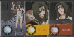 Carte Ultra Cards Panini Naruto 3 Cartes De Kurenai - Trading Cards