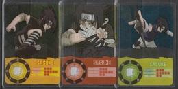 Carte Ultra Cards Panini Naruto 3 Cartes De Sasuke - Trading Cards