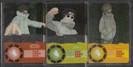 Carte Ultra Cards Panini Naruto 3 Cartes De Shino - Trading Cards