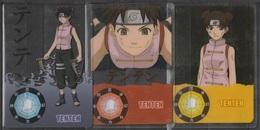 Carte Ultra Cards Panini Naruto 3 Cartes De Tenten - Trading Cards