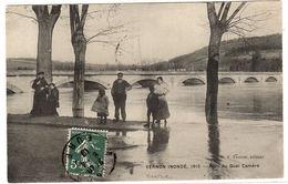 VERNON INONDÉ (27) , 1910 - Pont Du Quai Caméré - Ed. F. Fautret - Vernon