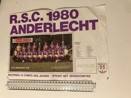 Affiche R.S.C. 1980 Anderlecht - Football