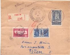 PARIS EXPOSITION INTERNATIONAL1930 POSTE AERIENNE REGISTRED MAIL   (FEB200137) - Esposizioni Filateliche