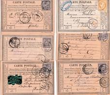 6 Cartes Précurseur Pour Les Ets VERHLIN, Commerce De Roulage à Besançon. Correspndance Commerciale 1877/78. 8 Scan - Besancon