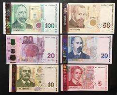 Bulgaria 5+10+20+20+50+100 Leva 1999-2006 LOTTO 3102 - Bulgaria