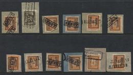 PREOS Typo - 1913  BRUXELLES Lot Gffes REBUT Et RETOUR Pour Retour - Precancels