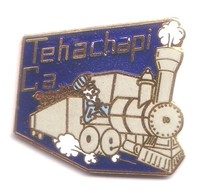 T56 Pin's TGV SNCF TRAIN Vapeur TEHACHAPI CA CALIFORNIE USA Qualté EGF Achat Immédiat - TGV