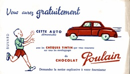 Lot De 2 Buvards Chocolat Poulain - Chocolat