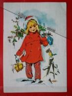 KOV 8-201 - NEW YEAR, Bonne Annee, Children, Enfant, PAINTING STONE - Nouvel An