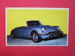 Trading Card (Cromo) - Citroën Ds 21 Cabriolet - Nº 37 - Col. Autos 1967 - Ed. Bruguera 1967 - (Spain) / France - Voitures