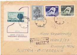 POLAND REGISTRED MAIL 1957 COVER   (FEB200145) - 1944-.... Repubblica