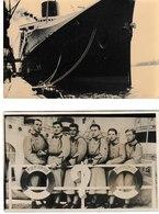 Paquebot NORMANDIE 2 Cartes-photos (A Quai Et Passagers Militaires) - Bateaux