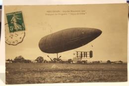 """Carte Postale Ancienne  VOULTEGON - Grandes Manoeuvres 1912 """" Transport Du Dirigeable """"Dupuy-de-Lôme"""" - Dirigeables"""