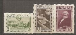 RUSSIE -  Yv N° 473 à 475   *   Karl Marx  Cote  53  Euro  BE   2 Scans - Unused Stamps