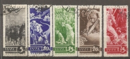 RUSSIE -  Yv N° 536 à 540 Complet  (o)  Propagande  Cote  75  Euro  BE   2 Scans - Used Stamps