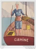 33) Parqueuse D ' Huîtres Au Bassin D ' Arcachon - (Pinasse Gamine - Illustrateur Man) - Arcachon