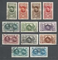 Romania 1927 Used Stamps Set - 1918-1948 Ferdinand, Carol II & Michael