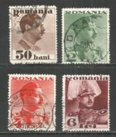 Romania 1934 Used Stamps Set - 1918-1948 Ferdinand I., Charles II & Michel
