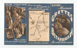 Publicité 6 Pages,guide Souvenir GROTTES DE BETHARRAM ,plan ,frais Fr 1.85 E - Advertising