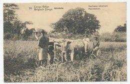 Postal Stationery Belgian Congo Kitobola - Mowing Machine - Ox - Agricoltura