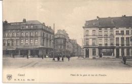 """GENT""""PLACE DE LA GARE ET RUE DE FLANDRE AVEC TRAM-STATIEPLEIN EN VLAANDERENSTRAAT MET TRAM""""H.N. N°228 - Gent"""