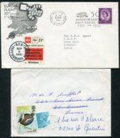 16693 GRANDE- BRETAGNE N°267, 605, 924° Flamme 50è. Anniversaire  De La Poste Aérienne Du 9.9.1961  TB - 1952-.... (Elizabeth II)