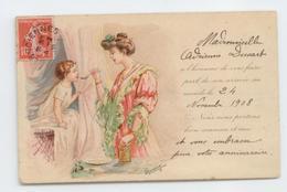 CPA 1908 FAIRE PART NAISSANCE ILLUSTRATEUR PUBLICITE FARINE GALACTINA BE - Bébés