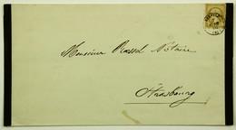 Avis De Décès 1866 Benfled --> Strasbourg, Affr. 10c Empire - 1849-1876: Période Classique
