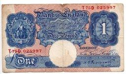 Angleterre  / 1 Pound  22-8-1923 / TB - …-1952 : Antes Elizabeth II