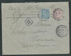 LSC Recommandée Affran./ Yvert N° 131 + 132 OBL. Cad Villeneuve Sur Lot En Sept 1906  LL17404 - Posttarife