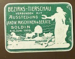Werbemarke Cinderella Poster Stamp Tierschau Soldin Pferd Kuh Schaf  #35 - Vignetten (Erinnophilie)
