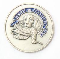 Superbe Pins Relief SOCIETE DES CHASSEURS De NICE (06) - Tête De Chien Tenant Une Bécasse  - J131 - Associations