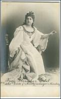 Y2997/ Schauspielerin Frau Fleischer-Edel Theater Foto AK Ca.1900 Hamburg - Artisti