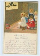 N1479/ Im Kino Kinder Mädchen Signiert Pauli Ebner Künstler Litho AK Ca. 1910 - Mailick, Alfred
