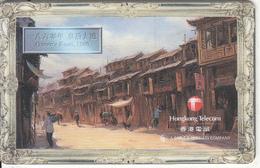 "HONG KONG(chip) - Queen""s Road 1860, HKT Telecard $50, Chip Siemens 35, CN : PDCX, Exp.date 30/04/00, Used - Hong Kong"
