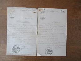 LAISSEZ-PASSER N°240 956 ET 193 007 DES 16 MAI ET 20 MARS 1942 BETAIL COMMUNE DE LA GROISE NORD - Historische Dokumente