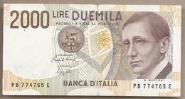 """Italia - Banconota Circolata Da 2000 Lire """"Marconi"""" P-115 - 1992 #18 - 2000 Lire"""