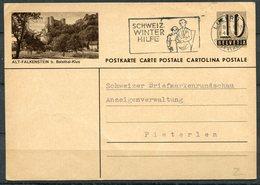 "Schweiz 1949 Bildpostkarte Mi.Nr.P????-10er,grau""Alt-Falkenstein""mit MWST""Luzern-Winterhilfe ""1 GS Used - Entiers Postaux"