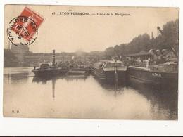 Rhône Lyon Perrache Docks De La Navigation Péniches - Lyon