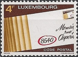 LUXEMBOURG - INTRODUCTION OS POSTAL CODE 1980 - MNH - Codice Postale