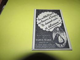 SABLE DE MARIE AU BEURRE D'ISIGNY - BAYEUX - N2 - PUBLICITE DE 1934. - Publicités