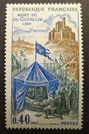 France: Cérès Variétés N° 1578a (Mort De Du Guesclin, 1968, Re-entry De La Partie Droite Et Du Cadre) Neuf ** - Errors & Oddities