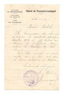 Courrier Du Maire De Pontault-Combault Département De Seine-et-Marne Arrondissement De Melun Canton De Tournan En 1930 - Vieux Papiers