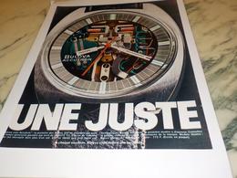 ANCIENNE  PUBLICITE MONTRE BULOVA  ACCUTRON 1971 - Bijoux & Horlogerie