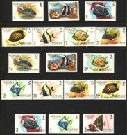 "1966-(MNH=**) Sharjah S.17v. ""Pesci,fishes"" - Sharjah"